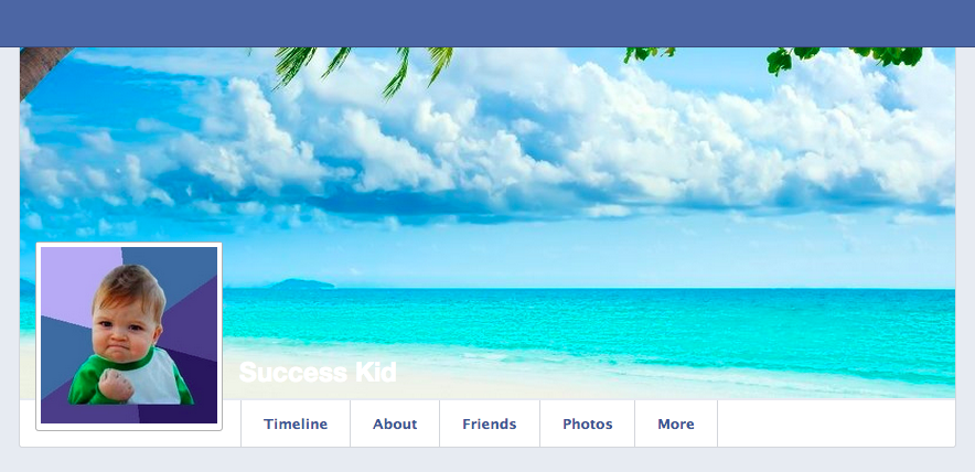 Facebook profile before box shadow